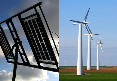Poste para Soporte de Panel Solar y Energía Eólica